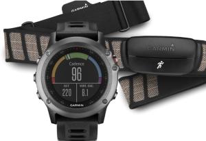 Garmin fenix 3 Triathlon sport GPS watch bundle with Heart Rate Monitor