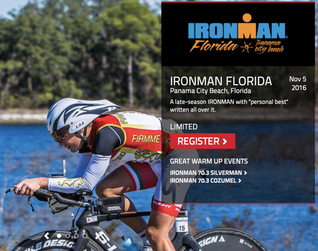 Ironman Florida November 2016 Triathlon event
