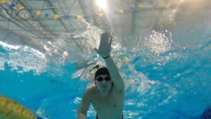 swim training in pool
